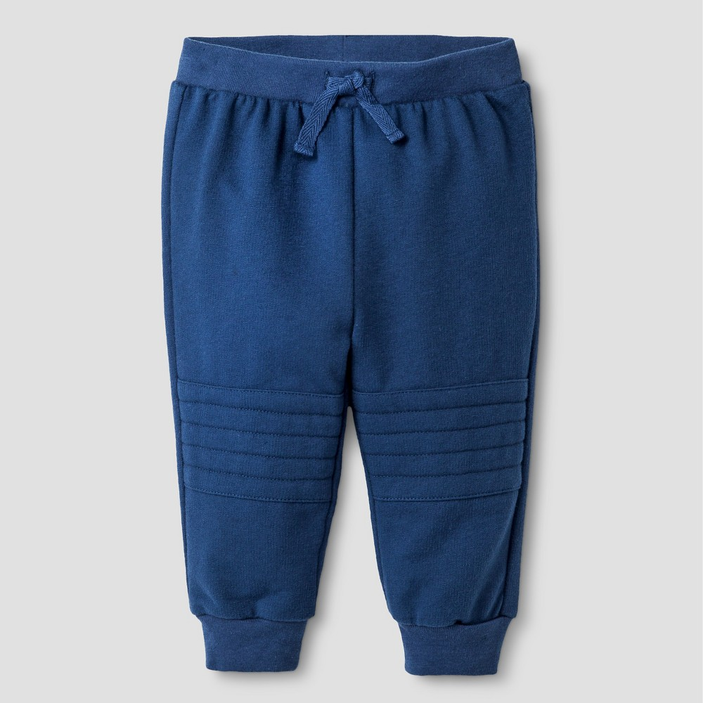 Baby Boys' Solid Jogger Pants - Cat & Jack Blue 0-3M, Insignia Blue