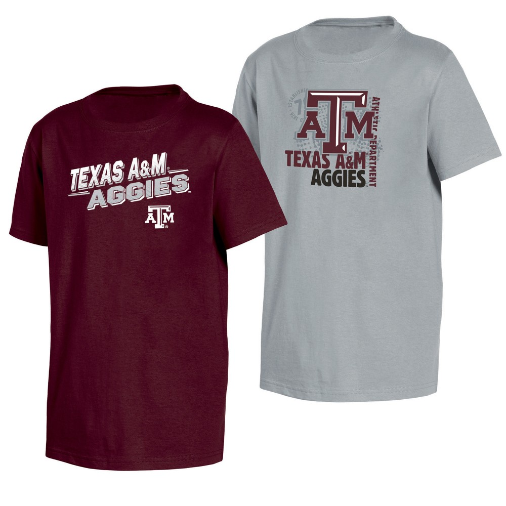 Texas A&m Aggies Double Trouble Toddler Short Sleeve 2pk T-Shirts 2T, Toddler Boy's, Multicolored
