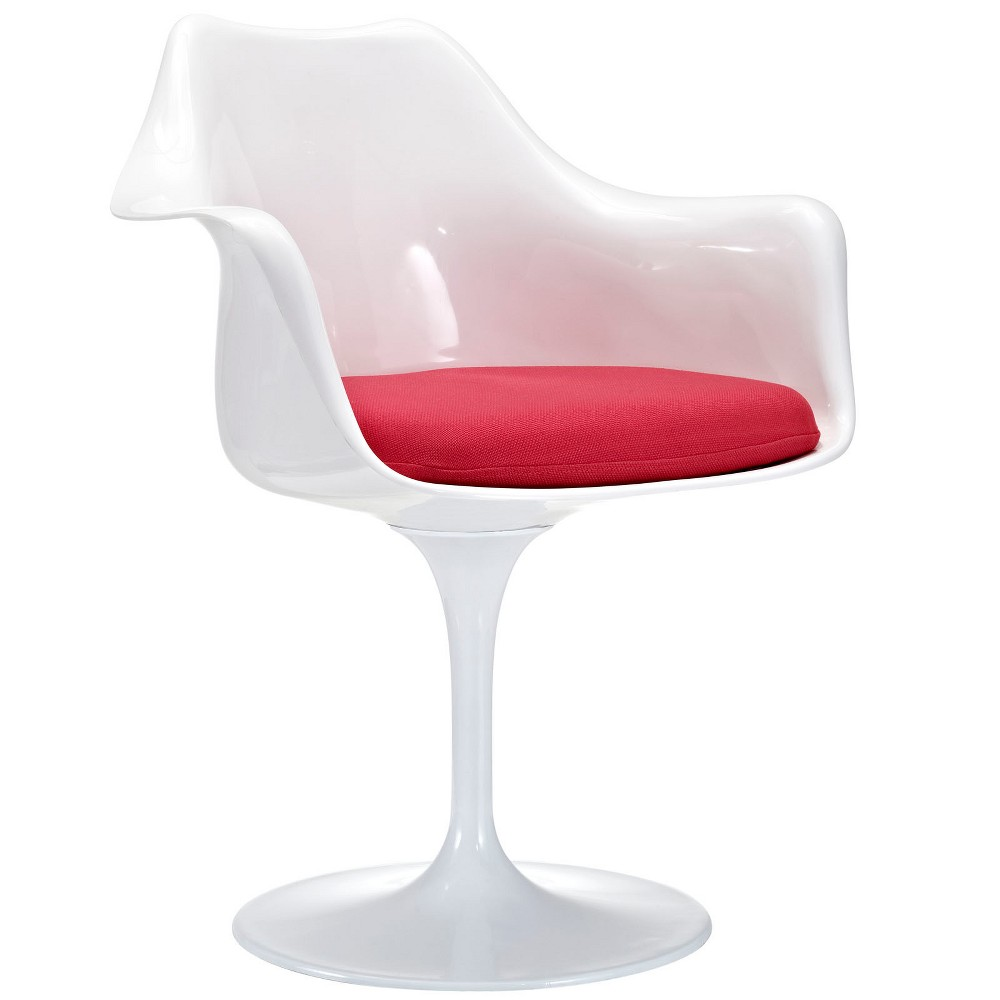 Lippa Dining Fabric Armchair Red - Modway