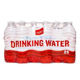 Purified Water - 24pk/16.9 fl oz Bottles - Market Pantry™