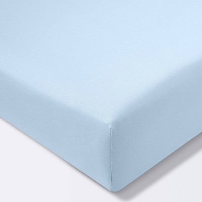 Fitted Crib Sheet Solid - Cloud Island™ Light Blue