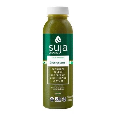Suja Uber Greens Organic Vegan Fruit & Vegetable Juice Drink 12oz
