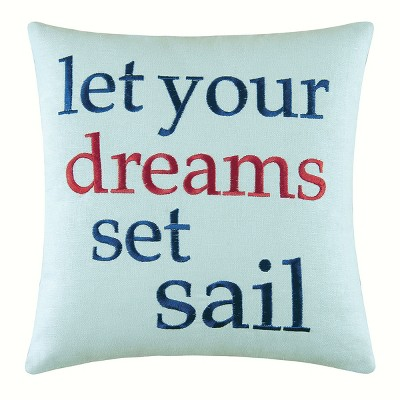 C&F Home Set Sail Embroidered Pillow