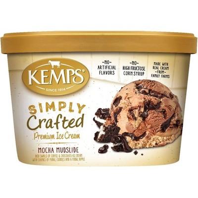 Kemps Simply Crafted Mocha Mudslide Ice Cream - 48oz