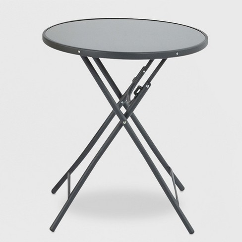 Folding Patio Bistro Table Gray - Project 62™ - image 1 of 1