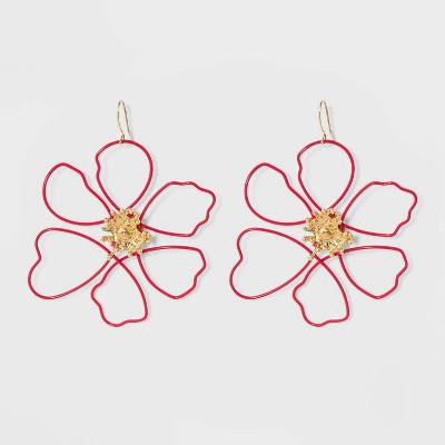 ea3657e7a Sugarfix By Bauble Bar Wire Flower Drop Earrings by Sugarfix By Bauble Bar