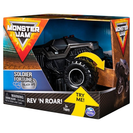 Monster Jam 1:43 Rev & Rumble Trucks Assortment - Soldier Fortune Black Ops image number null