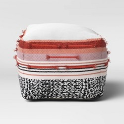 Outdoor Pouf Red/Black/White - Opalhouse™