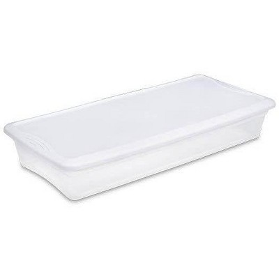 Sterilite 19608006 41 Quart Under Bed Latch Tote Storage Box Containers (6 Pack)
