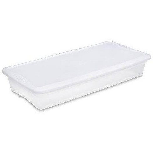 Sterilite 19608006 41 Quart Under Bed Latch Tote Storage Box Containers (6 Pack) - image 1 of 4
