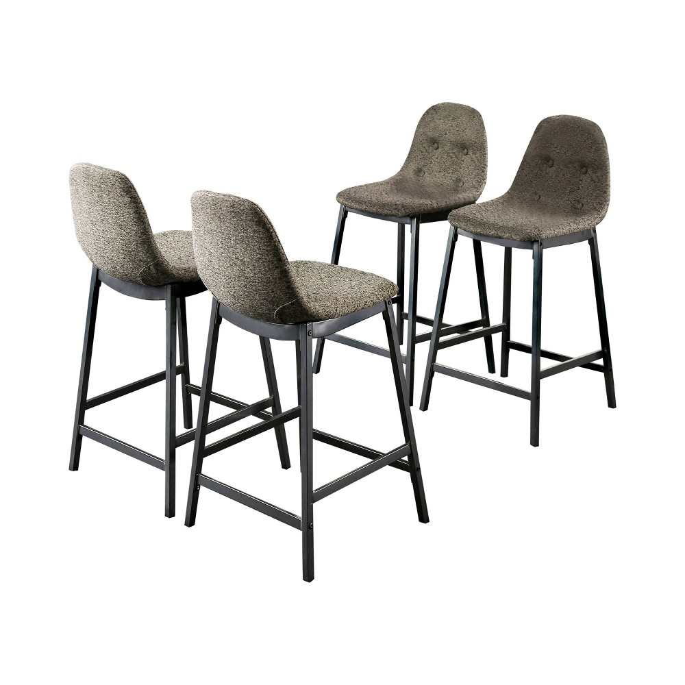 "Image of ""24"""" Traves Upholstered Counter Height Chairs Dark Gray/Gray - miBasics"""