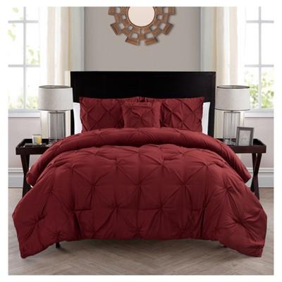 Burgundy Nilda Comforter Set (King)- VCNY®