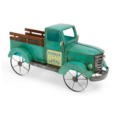 "GIL 41""L Solar Lighted Metal Garden Truck"