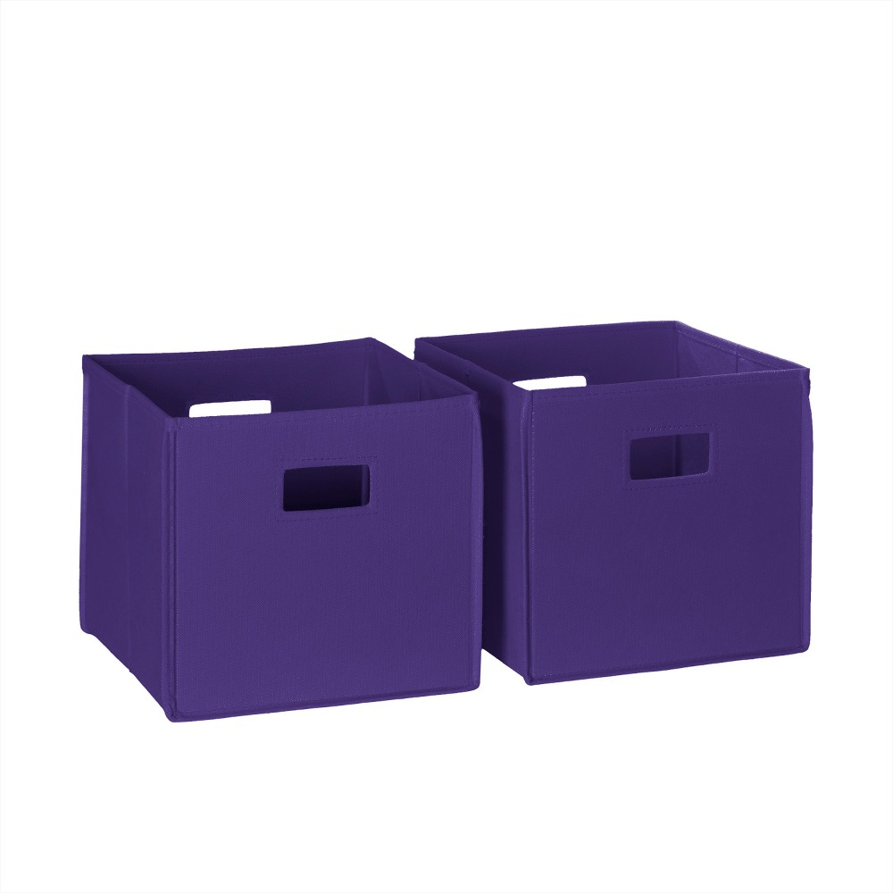 Image of 2pc Folding Toy Storage Bin Set Dark Purple - RiverRidge