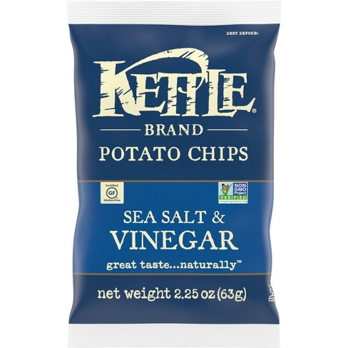 Kettle Sea Salt & Vinegar Potato Chips - 2.25oz - image 1 of 4