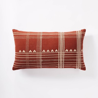 Oversized Woven Textured Lumbar Throw Pillow - Threshold™ designed with Studio McGee