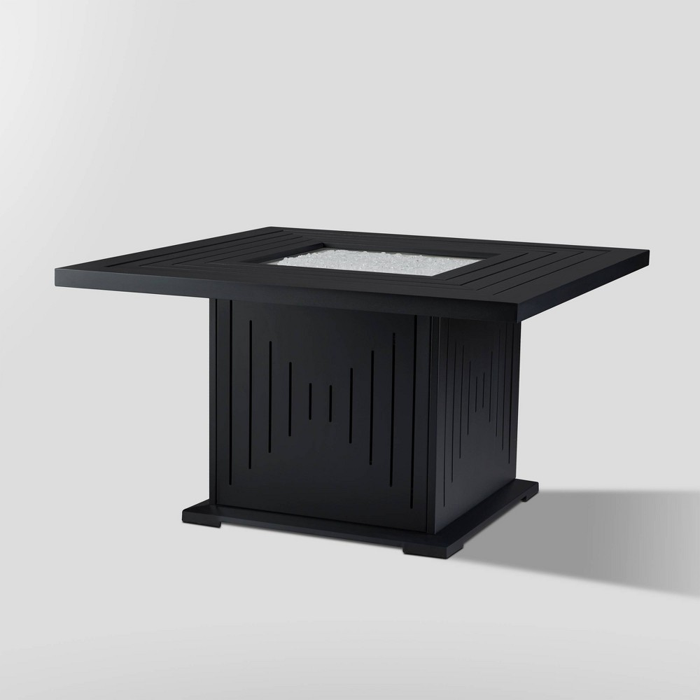 Cavalier Fire Table with Natural Gas Kit Black - Real Flame