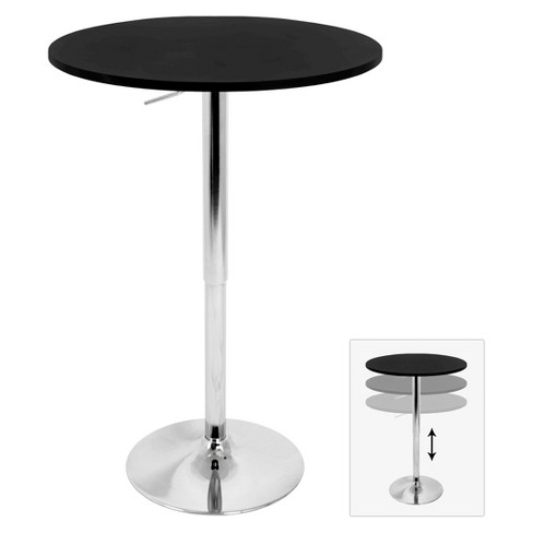 Adjustable Pub Table Metal/Black - LumiSource - image 1 of 4