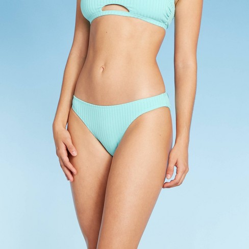 Juniors' Ribbed Cheeky Bikini Bottom - Xhilaration™ - image 1 of 4