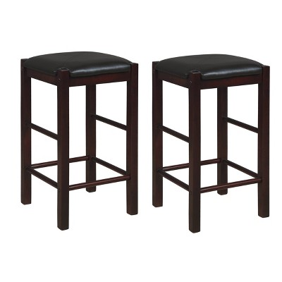 Set of 2 Lancer Backless Counter Height Barstools - Linon