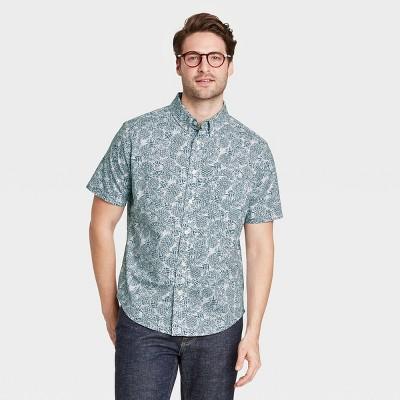 Men's Standard Fit Stretch Poplin Short Sleeve Button-Down Shirt - Goodfellow & Co™