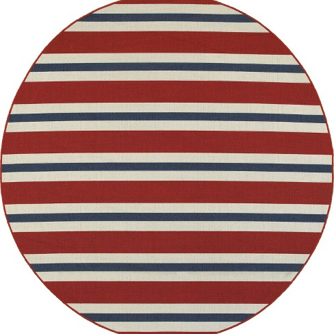 Marlowe Striped Patio Rug - image 1 of 4