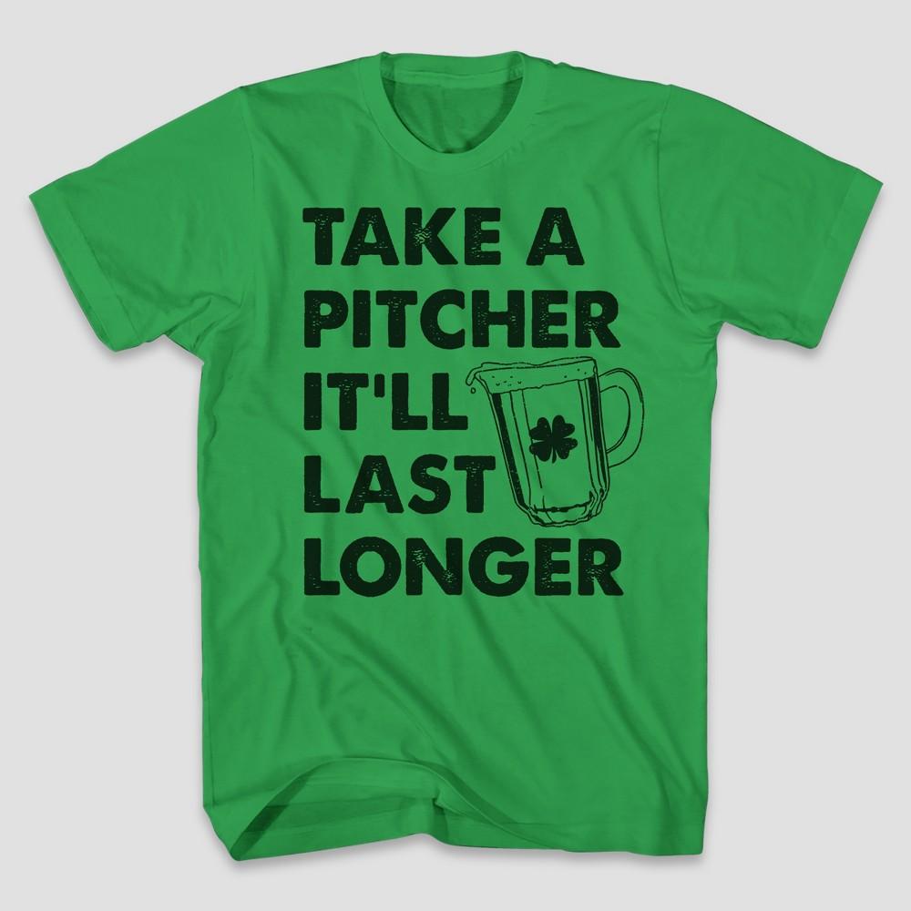 Men's Short Sleeve Pitcher Graphic T-Shirt - Kelly Green M