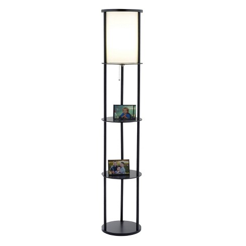 "62.5"" Stewart Shelf Floor Lamp Black - Adesso - image 1 of 3"