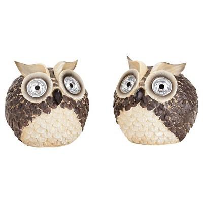 Smart Solar Garden Pal Owl 2 Piece - Multi-Colored (6.5 )
