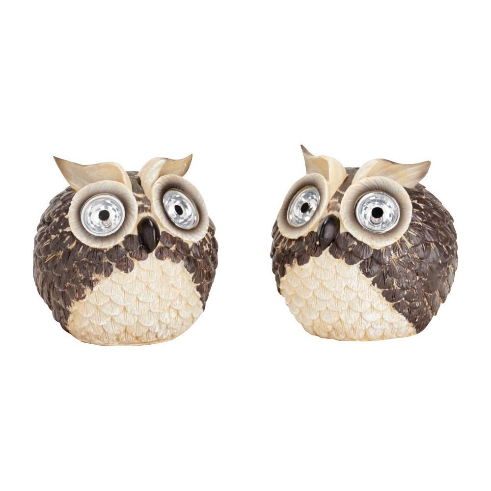 Smart Solar Garden Pal Owl 2 Piece - Multi-Colored (6.5)
