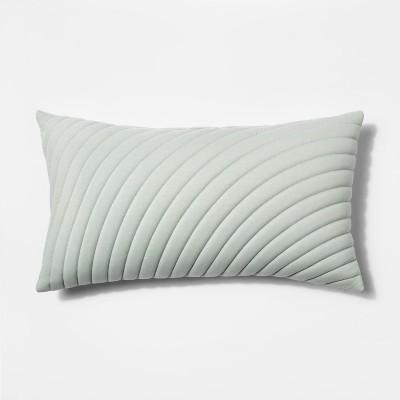 Quilted Jersey Oversize Lumbar Throw Pillow Light Green - Project 62™