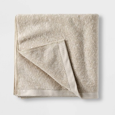Slub Accent Organic Bath Towel Sand - Casaluna™