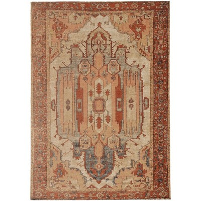 Great Zero Garron Rug Off White/Red - Linon