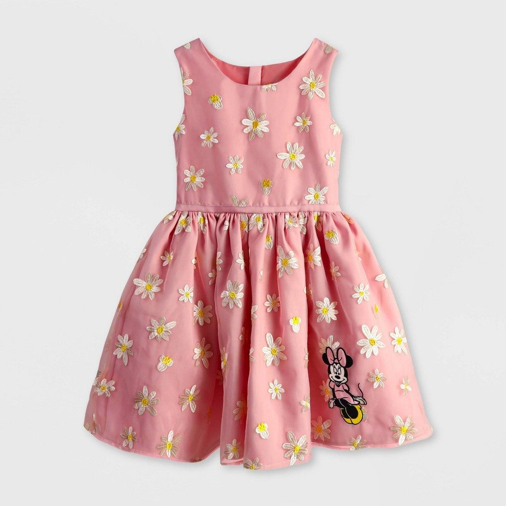 Girls 39 Disney Minnie Mouse A Line Dress Pink 7 8 Disney Store
