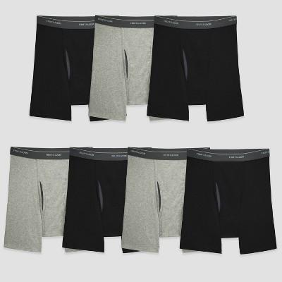 Fruit of the Loom Men's Boxer Briefs - Black/Gray