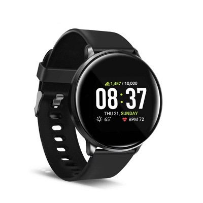 iTouch Sport Fitness Smartwatch 43mm - Black with Black Band