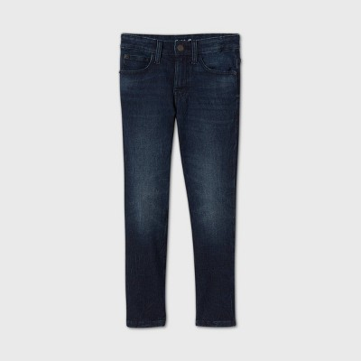 Boys' Super Stretch Slim Fit Jeans - Cat & Jack™ Dark Blue