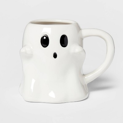 9.7oz Stoneware Ghost Mug White - Threshold™