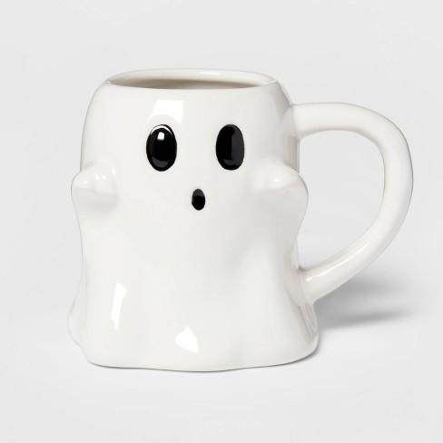 9.7oz Stoneware Ghost Mug White - Threshold™ - image 1 of 3