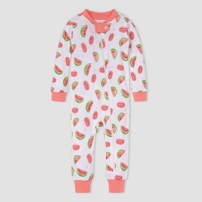 Burt's Bees Baby® Baby Girls' Watermelon Pajama Jumpsuit - Light Pink 6-9M