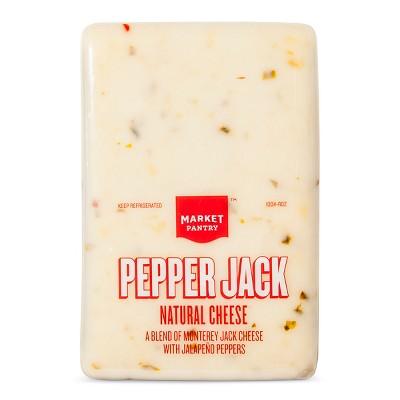 Pepper Jack Natural Cheese - Price Per lb. - Market Pantry™