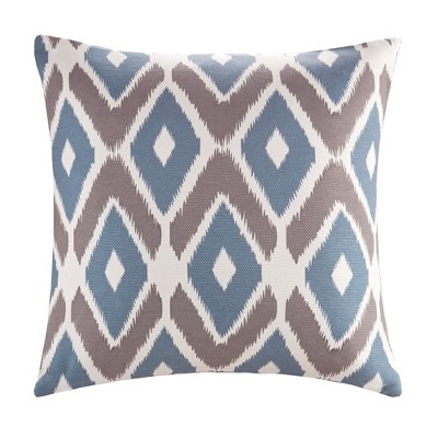 Navy Ender Diamond Printed Throw Pillow (20 x20 )