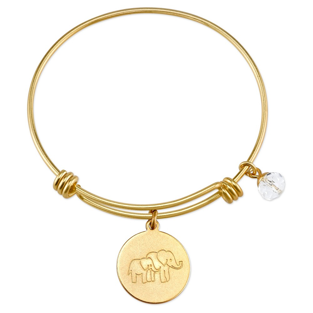 Women's Stainless Steel Elephant lucky Expandable Bracelet - Gold (8), Silver