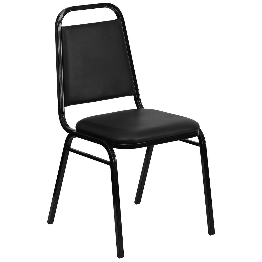 Riverstone Furniture Collection Vinyl Banquet Chair Black