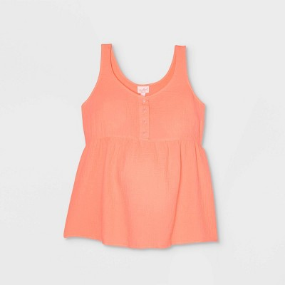 Button-Front Maternity Tank Top - Isabel Maternity by Ingrid & Isabel™