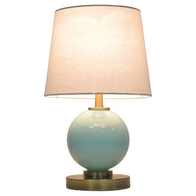 Glass Ball Table Lamp with Touch On/Off Aqua (Includes CFL bulb)- Pillowfort™