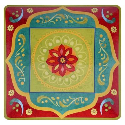 Certified International Tunisian Sunset Square Platter (14.25 )