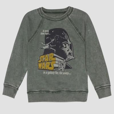 Junk Food Toddler Boys' Star Wars Darth Vader Full Sleeve Sweatshirt - Green 12M