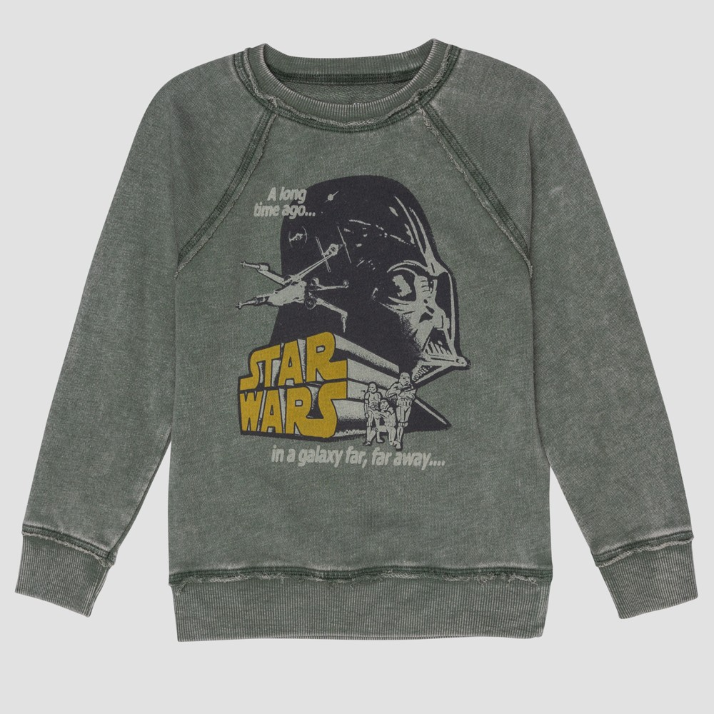 Junk Food Toddler Boys' Star Wars Darth Vader Full Sleeve Sweatshirt - Green 12M