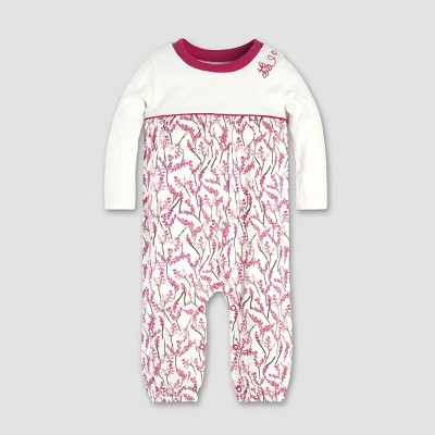 Burt's Bees Baby® Baby Girls' Blooming Branches Coverall - Eggshell 3-6M